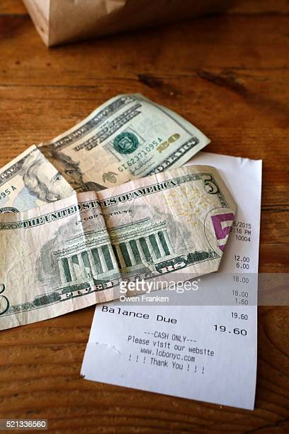 cash and check left in a restaurant, New York City