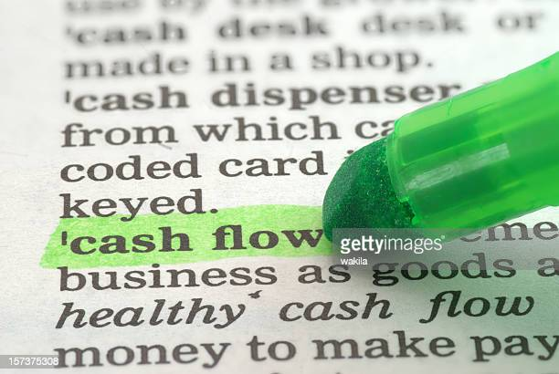 cash flow definition highlighted in dictionary