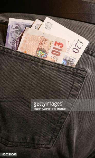 Cash in a back pocket.