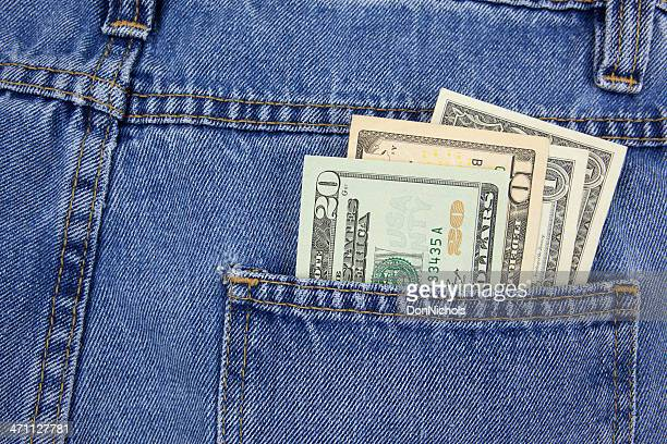 cash in back pocket - cash back in your pocket stock pictures, royalty-free photos & images