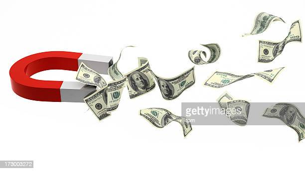 cash magnet - horseshoe magnet stock pictures, royalty-free photos & images