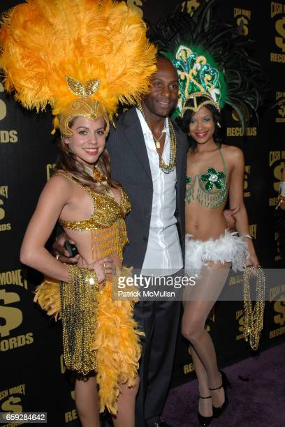 Cash Money Girls and Jerry Rice attend Cash Money Records First Annual PreGrammy Party Honoring Lil Wayne at Montage Beverly Hills on February 7 2009...