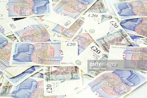 cash money - british pound sterling note stock pictures, royalty-free photos & images