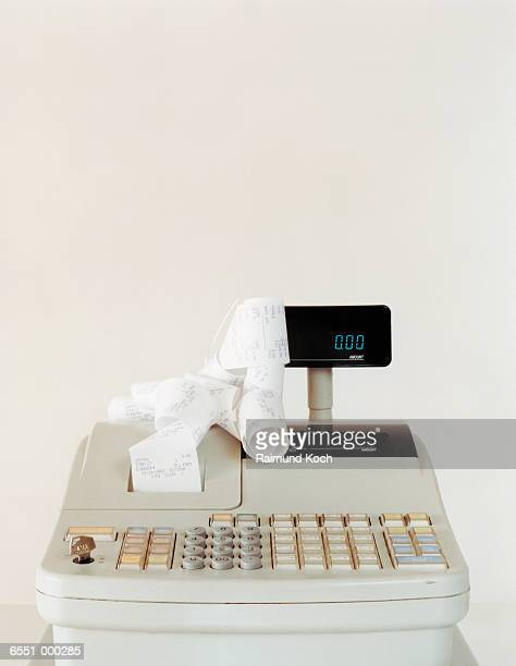 Cash Register and Receipts