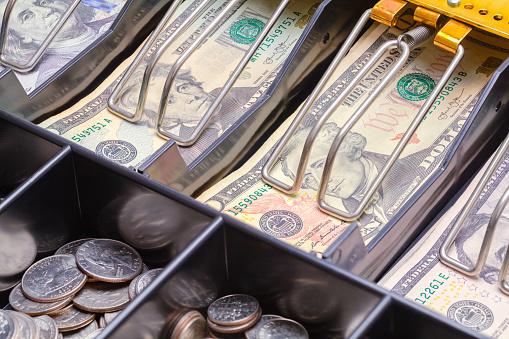 Cash Register Drawer Close Up 948197202