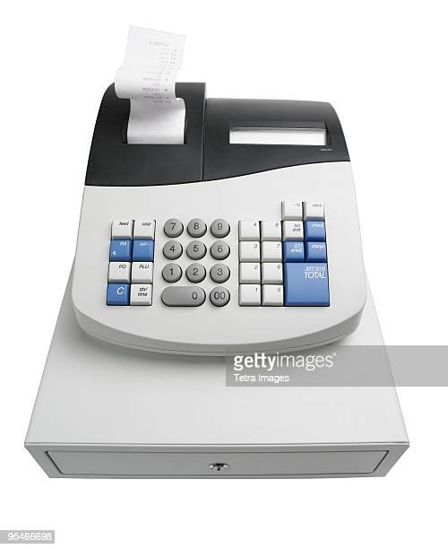 cash register - addierrolle stock-fotos und bilder