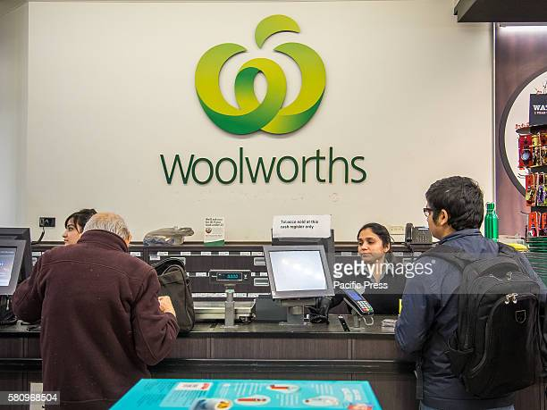 Cash registers inside Woolworths' flagship store pictured as Woolworths revealed 500 jobs will go in back office and supply roles as part of an...