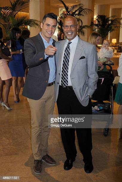 Cash Warren and dad Michael Warren arrive at The Helping Hand of Los Angeles Mother's Day luncheon at The Beverly Hilton Hotel on May 9 2014 in...