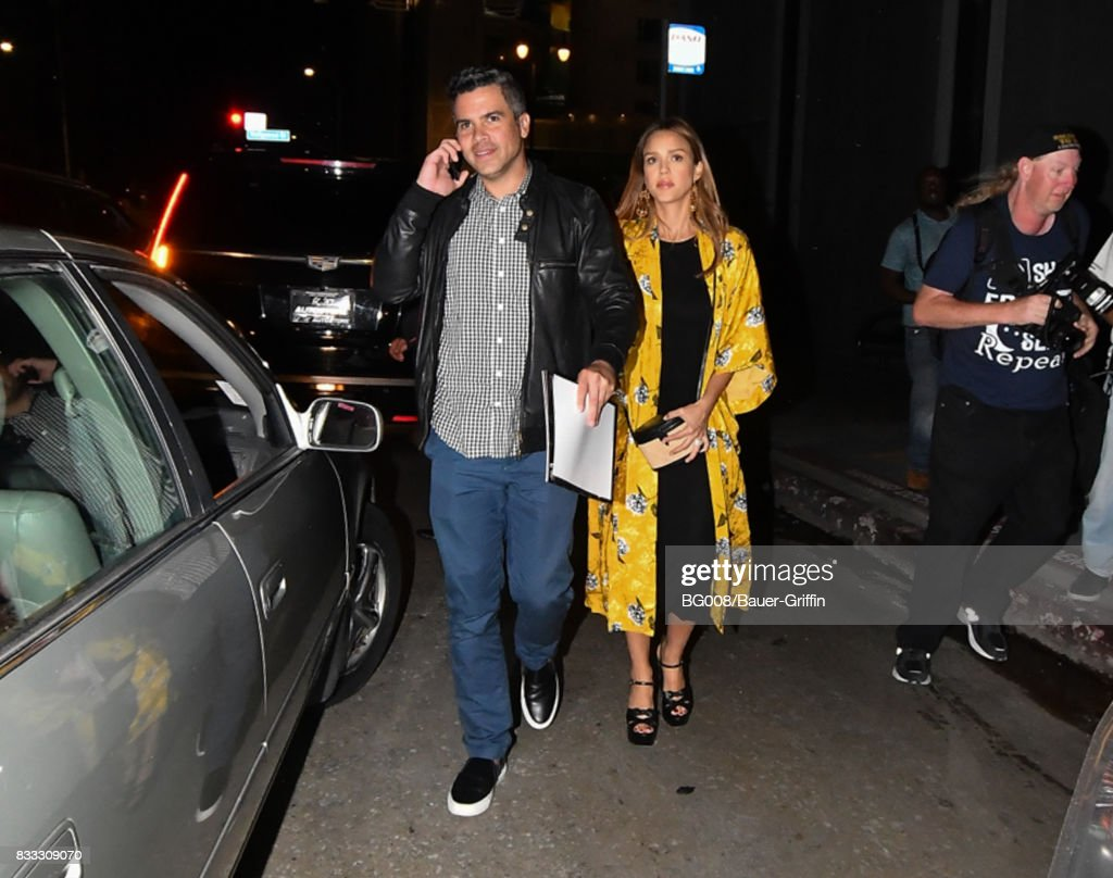 Cash Warren and Jessica Alba are seen on August 16, 2017 in Los Angeles, California.