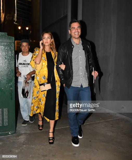 Cash Warren and Jessica Alba are seen on August 16 2017 in Los Angeles California