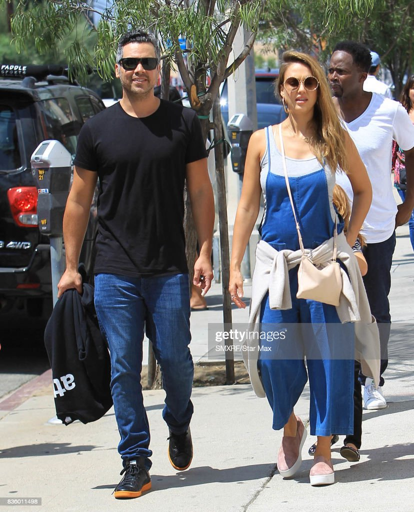 Cash Warren and Jessica Alba are seen on August 20, 2017 in Los Angeles, California