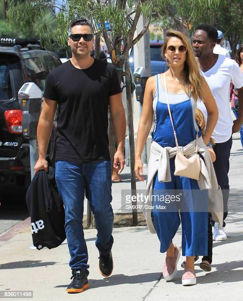 Cash Warren and Jessica Alba are seen on August 20 2017 in Los Angeles California