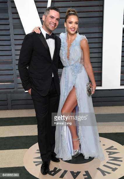 Cash Warren and Jessica Alba arrive for the Vanity Fair Oscar Party hosted by Graydon Carter at the Wallis Annenberg Center for the Performing Arts...