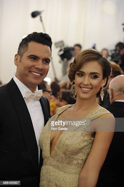 Cash Warren and Jessica Alba attend 'Charles James Beyond Fashion' Costume Institute Gala at the Metropolitan Museum of Art on May 5 2014 in New York...
