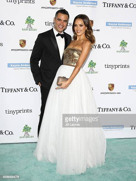 Cash Warren and Jessica Alba attend The 2014 Baby2Baby Gala Presented by Tiffany Co at The Book Bindery on November 8 2014 in Culver City California