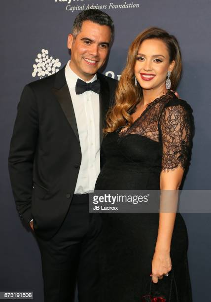 Cash Warren and Jessica Alba attend the 2017 Baby2Baby Gala on November 11 2017 in Los Angeles California