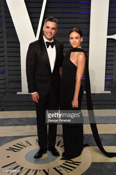 Cash Warren and Jessica Alba attend the 2019 Vanity Fair Oscar Party hosted by Radhika Jones at Wallis Annenberg Center for the Performing Arts on...