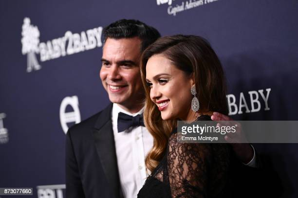 Cash Warren and Jessica Alba attends The 2017 Baby2Baby Gala presented by Paul Mitchell on November 11 2017 in Los Angeles California