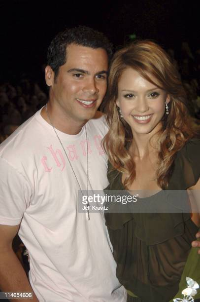 Cash Warren and Jessica Alba during 2005 MTV Movie Awards Backstage and Audience at Shrine Auditorium in Los Angeles California United States