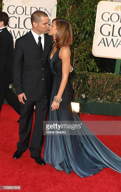 Cash Warren and Jessica Alba during The 63rd Annual Golden Globe Awards Arrivals at Beverly Hilton Hotel in Beverly Hills California United States