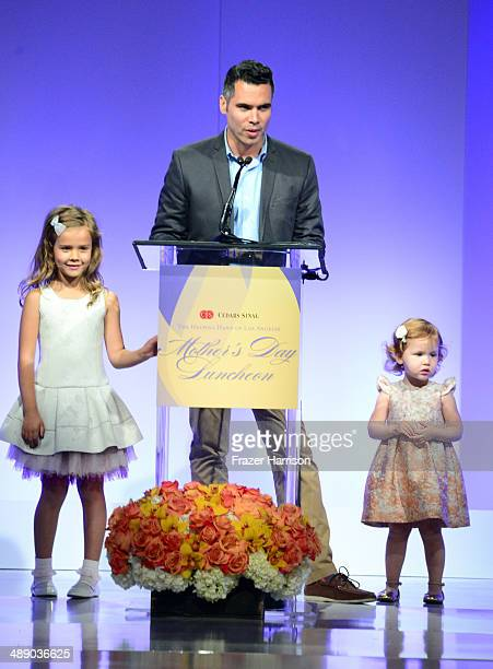 Cash Warren Honor Warren Haven Warren at The Helping Hand of Los Angeles Mother's Day Luncheon at The Beverly Hilton Hotel on May 9 2014 in Beverly...