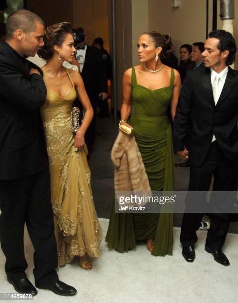 Cash Warren Jessica Alba Jennifer Lopez and Marc Anthony*exclusive*