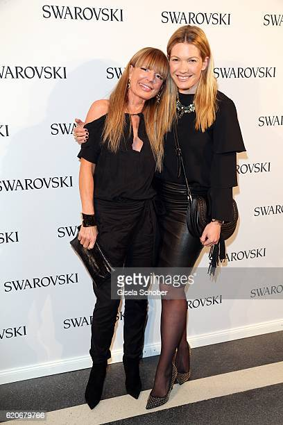 Casha Kellermann and Jessica Kastrop during the Swarovski World Jewelry Facets exhibition at Villa Wagner on November 2 2016 in Munich Germany