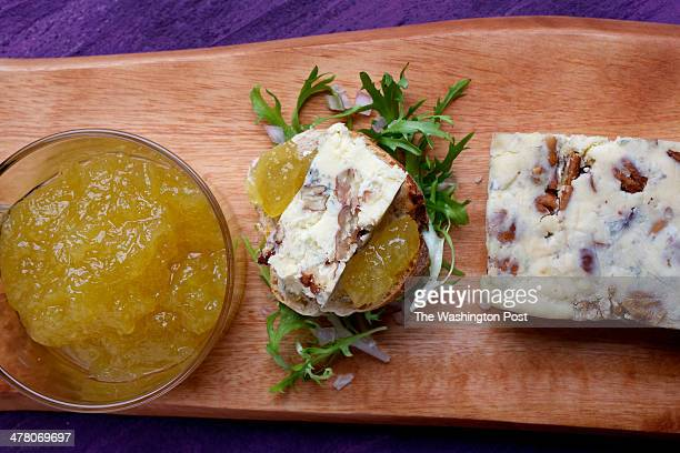 Cashel Blue and Toasted Pecan Terrine With Apple Jam photographed in Washington DC Tableware from Crate and Barrel Photo by Deb Lindsey/For The...