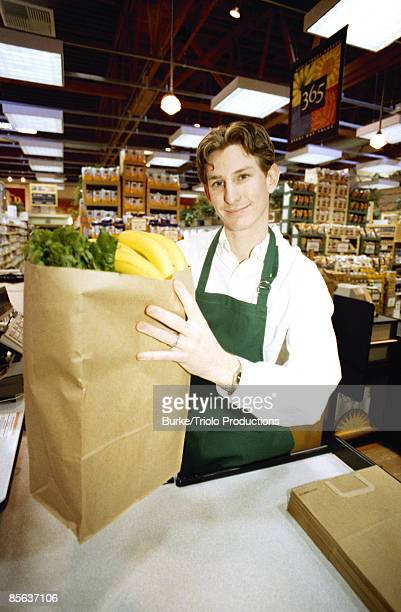 Cashier at grocery store