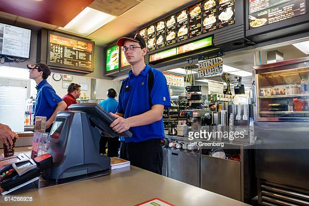 Fast Food Uniform Stock Photos and Pictures | Getty Images