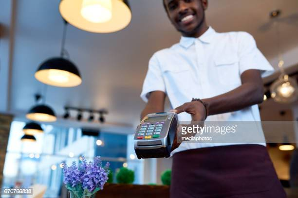 Cashless payment in cafe