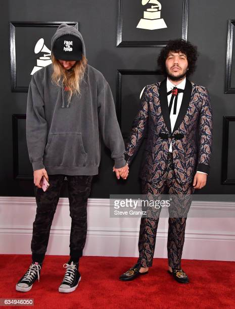 Cashmere Cat and producer Benny Blanco attend The 59th GRAMMY Awards at STAPLES Center on February 12 2017 in Los Angeles California