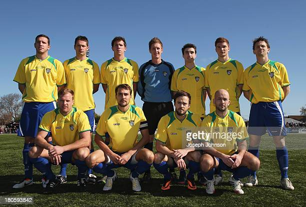 Cashmere Technical team pose before the Chatham Cup Final match between Cashmere Technical FC v Waitakere City FC at ASB Football Park on September...