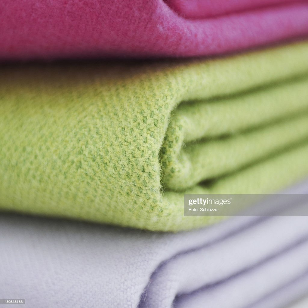 Cashmere wool blankets : Stock Photo