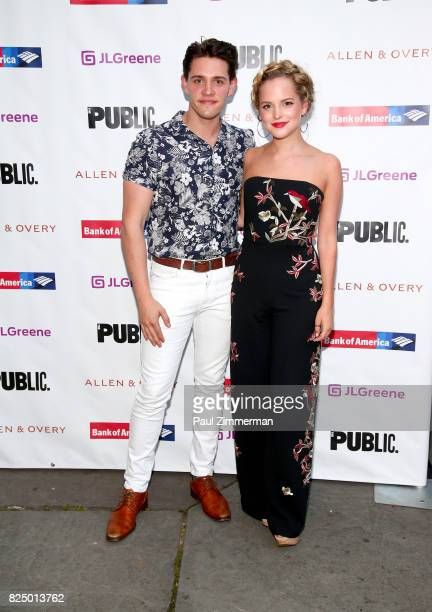 Casie Cott and Stephanie Styles attend 'A Midsummer Night's Dream' Opening Night at Delacorte Theater on July 31 2017 in New York City