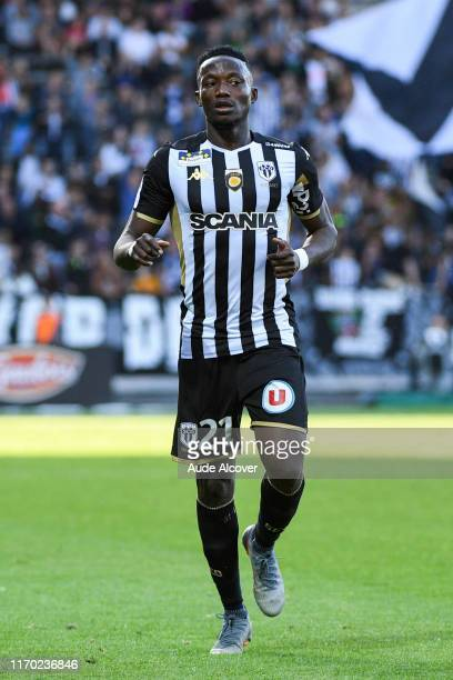 Casimir NINGA of Angers during the Ligue 1 match between Angers and Saint Etienne on September 22, 2019 in Angers, France.