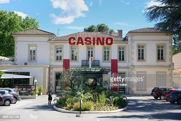 casino building greoux-les-bains provence - alpes de haute provence stock pictures, royalty-free photos & images
