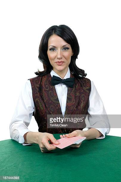Casino card dealer