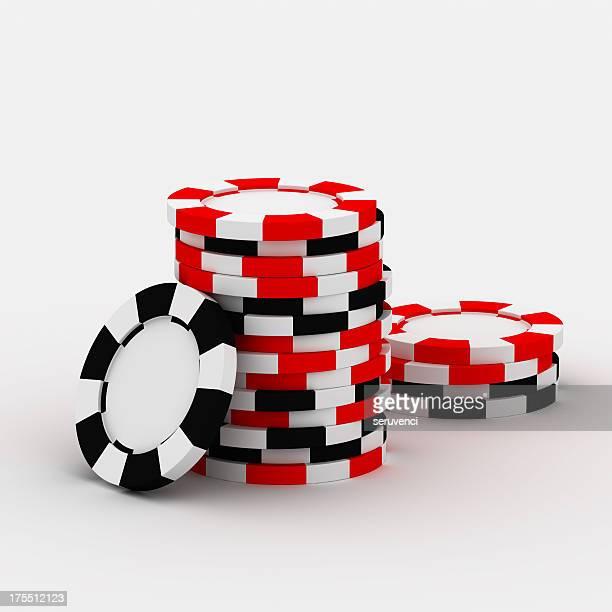 Casino chip stacks