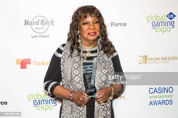 Casino Entertainment Legend Award recipient singer Martha Reeves attends the Global Gaming Expo's seventh annual Casino Entertainment Awards at Vinyl...