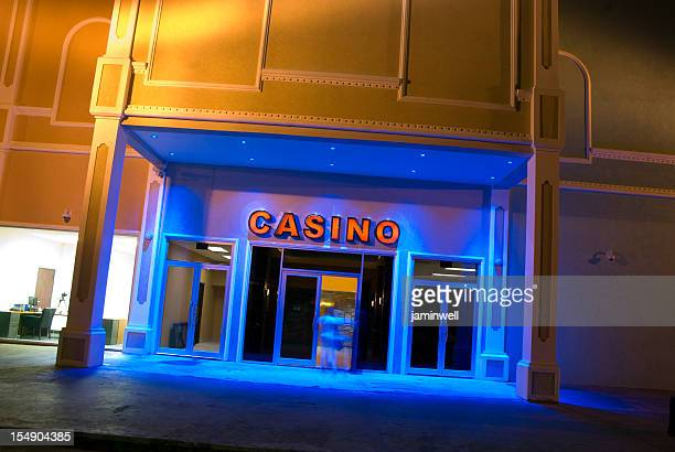 casino entrance colorfully lit - entrance sign stock pictures, royalty-free photos & images