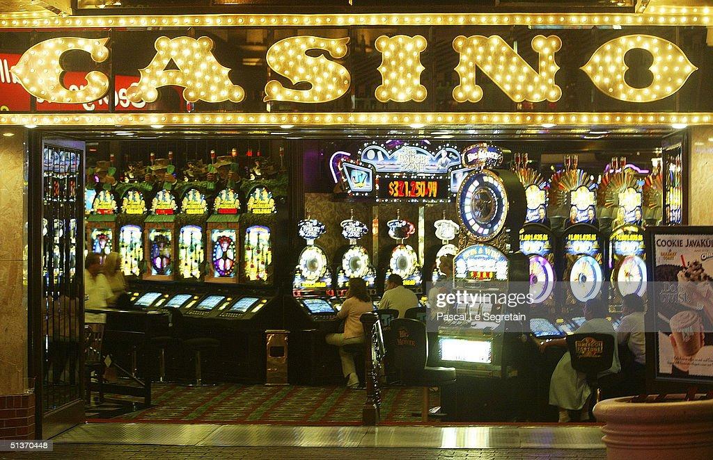 A Casino is seen at night on Las Vegas Boulevard, September 17 in Las Vegas.