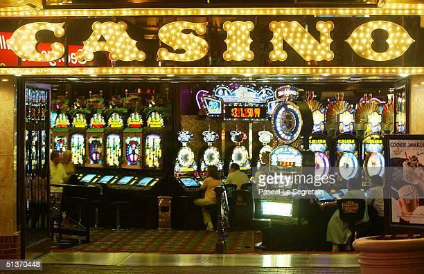 Casino is seen at night on Las Vegas Boulevard September 17 in Las Vegas