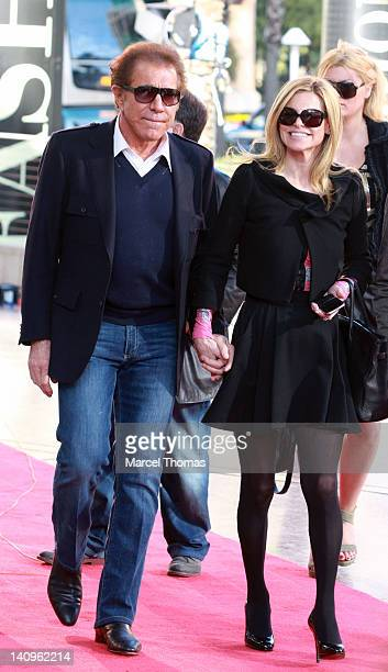 Casino magnate Steve Wynn and Andrea HissomWynn attend the grand openig of TopShop TopMan Flagship Store at Fashion Show Mall on March 8 2012 in Las...