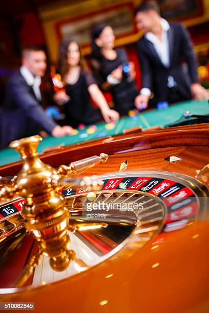 casino roulette wheel - casino stock pictures, royalty-free photos & images