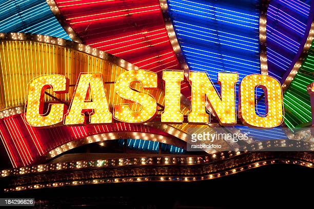 casino sign - las vegas stock pictures, royalty-free photos & images