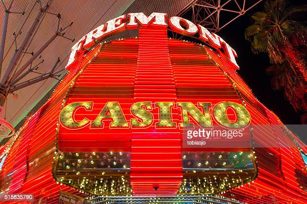 casino sign - fremont street las vegas stock pictures, royalty-free photos & images
