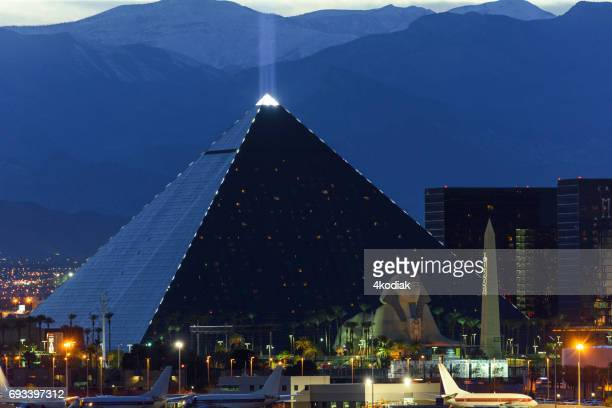 Casinos at Las Vegas in the evening Nevada