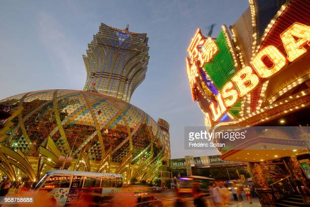 """Casinos in Macau. Macau has 33 casinos, and has become known worldwide as the """"Monte Carlo of the Orient"""" in Macau on October 18, 2016 in China."""