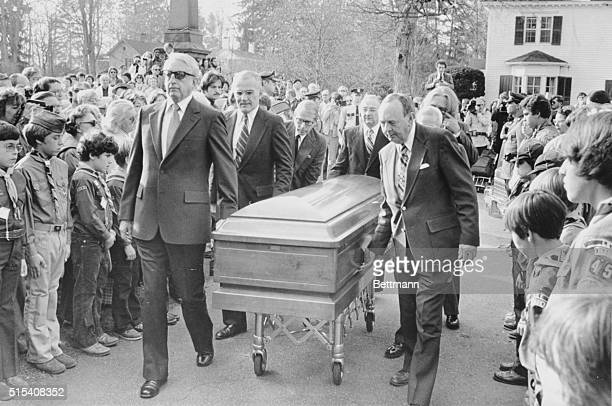 Casket bearing the remains of Norman Rockwell, artist laureate of rural America, leaves St. Paul's Episcopal Church after funeral services. 400...